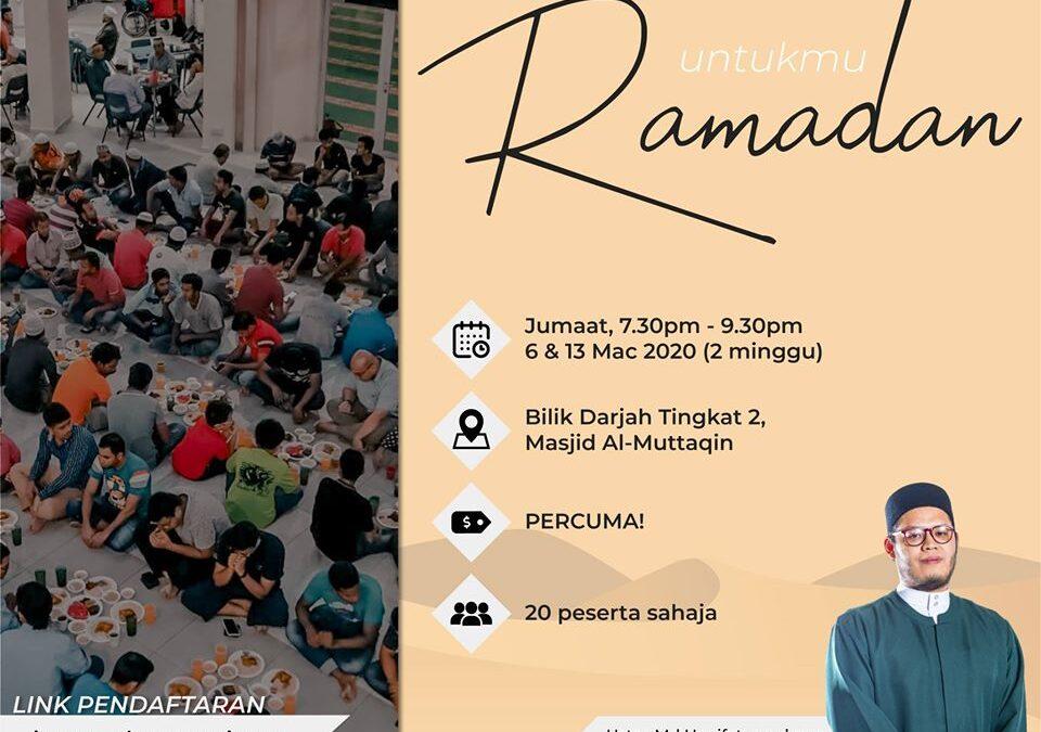 Untukmu Ramadan (Fiqh Ramadan)